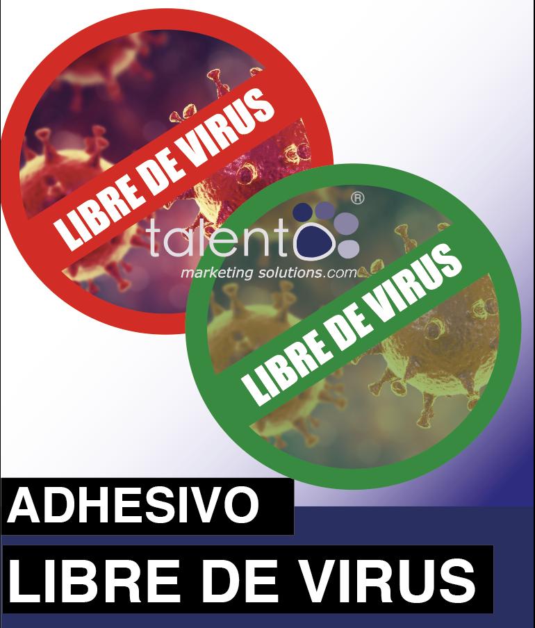 """PEGATINAS """"LIBRE DE VIRUS"""""""